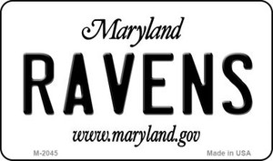 Ravens Maryland State License Plate Wholesale Magnet M-2045