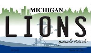 Lions Michigan State License Plate Wholesale Magnet M-2047