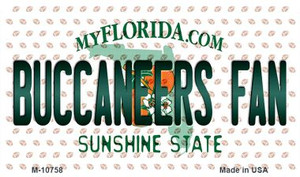 Buccaneers Fan Florida State License Plate Wholesale Magnet M-10758