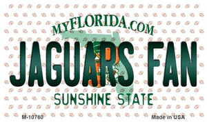 Jaguars Fan Florida State License Plate Wholesale Magnet M-10760