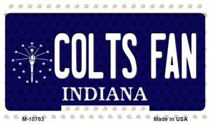 Colts Fan Indiana State License Plate Wholesale Magnet M-10763