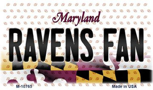 Ravens Fan Maryland State License Plate Wholesale Magnet M-10765