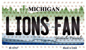 Lions Fan Michigan State License Plate Wholesale Magnet M-10767