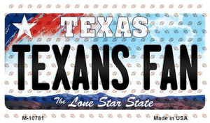 Texans Fan Texas State License Plate Wholesale Magnet M-10781