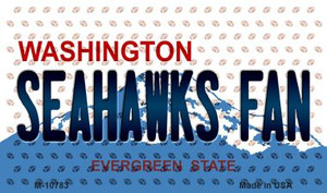 Seahawks Fan Washington State License Plate Wholesale Magnet M-10783