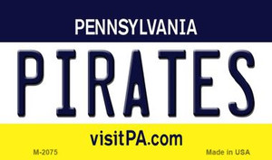 Pirates Pennsylvania State License Plate Wholesale Magnet M-2075