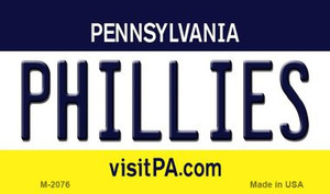 Phillies Pennsylvania State License Plate Wholesale Magnet M-2076
