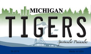 Tigers Michigan State License Plate Wholesale Magnet M-2079