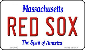 Red Sox Massachusetts State License Plate Wholesale Magnet M-2090