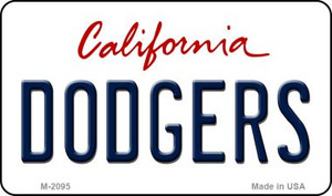 Dodgers California State License Plate Wholesale Magnet M-2095