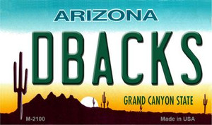 Dbacks Arizona State License Plate Wholesale Magnet M-2100