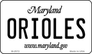 Orioles Maryland State License Plate Wholesale Magnet M-2072