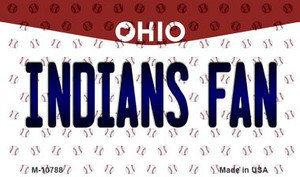 Indians Fan Ohio State License Plate Wholesale Magnet M-10788