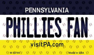 Phillies Fan Pennsylvania State License Plate Wholesale Magnet M-10790