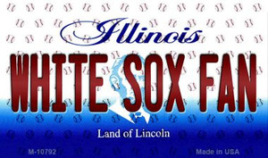 White Sox Fan Illinois State License Plate Wholesale Magnet M-10792