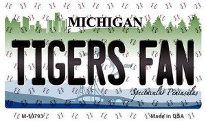 Tigers Fan Michigan State License Plate Wholesale Magnet M-10793