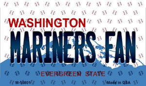 Mariners Fan Washington State License Plate Wholesale Magnet M-10801