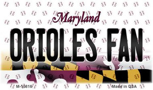 Orioles Fan Maryland State License Plate Wholesale Magnet M-10816