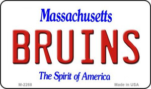 Bruins Massachusetts State License Plate Wholesale Magnet M-2288
