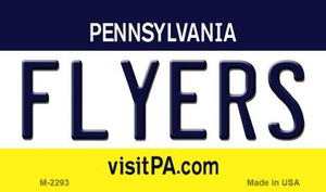 Flyers Pennsylvania State License Plate Wholesale Magnet M-2293