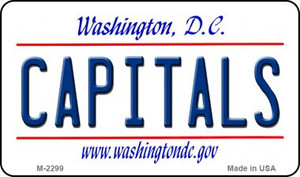 Capitals Washington DC State License Plate Wholesale Magnet M-2299