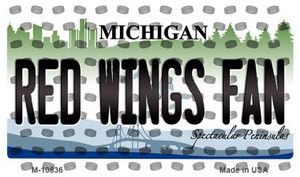 Red Wings Fan Michigan State License Plate Wholesale Magnet M-10836
