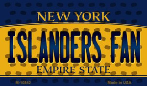 Islanders Fan New York State License Plate Wholesale Magnet M-10842