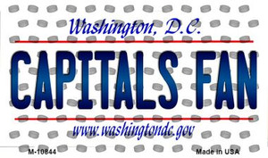 Capitals Fan Washington DC State License Plate Wholesale Magnet M-10844