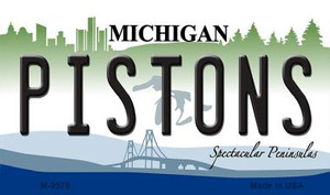 Pistons Michigan State License Plate Wholesale Magnet M-2570