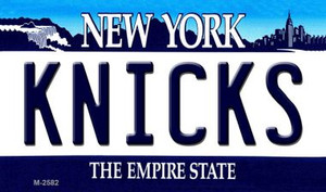 Knicks New York State License Plate Wholesale Magnet M-2582