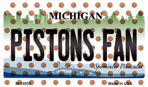 Pistons Fan Michigan State License Plate Wholesale Magnet M-10855