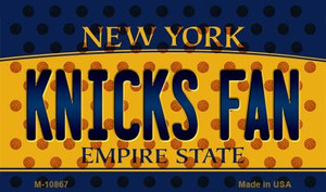Knicks Fan New York State License Plate Wholesale Magnet M-10867