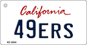 49ers California State License Plate Wholesale Key Chain KC-2034