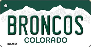 Broncos Colorado State License Plate Wholesale Key Chain KC-2037