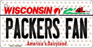 Packers Fan Wisconsin State License Plate Wholesale Key Chain KC-10784