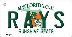 Rays Florida State License Plate Wholesale Key Chain KC-2084