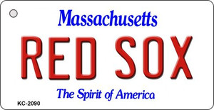 Red Sox Massachusetts State License Plate Wholesale Key Chain KC-2090