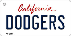Dodgers California State License Plate Wholesale Key Chain KC-2095