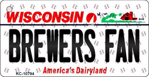 Brewers Fan Wisconsin State License Plate Wholesale Key Chain KC-10794