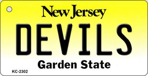 Devils New Jersey State License Plate Wholesale Key Chain KC-2302