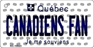 Canadiens Fan Quebec State License Plate Wholesale Key Chain KC-10823