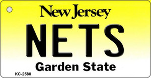 Nets New Jersey State License Plate Wholesale Key Chain KC-2580