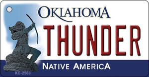 Thunder Oklahoma State License Plate Wholesale Key Chain KC-2583