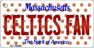 Celtics Fan Massachusetts State License Plate Wholesale Key Chain KC-10849