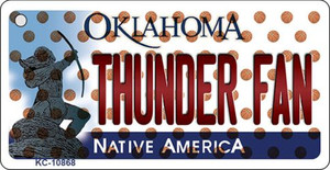Thunder Fan Oklahoma State License Plate Wholesale Key Chain KC-10868
