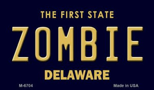 Zombie Delaware State License Plate Wholesale Magnet M-6704