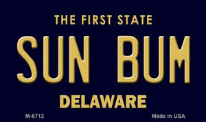 Sun Bum Delaware State License Plate Wholesale Magnet M-6712