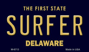 Surfer Delaware State License Plate Wholesale Magnet M-6713