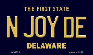 N Joy DE Delaware State License Plate Wholesale Magnet M-6721