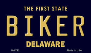 Biker Delaware State License Plate Wholesale Magnet M-6722